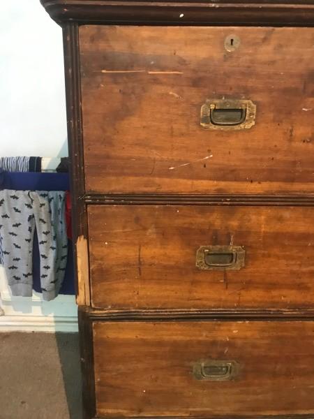 Restoring an Antique Teak Dresser