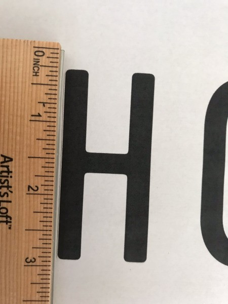 "Stencil ""Home"" Art - use a ruler for helping to cut along the straight parts of the letters on the printout"
