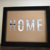 "Stencil ""Home"" Art - finished artwork"