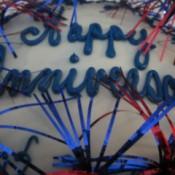 decorated anniversary cake