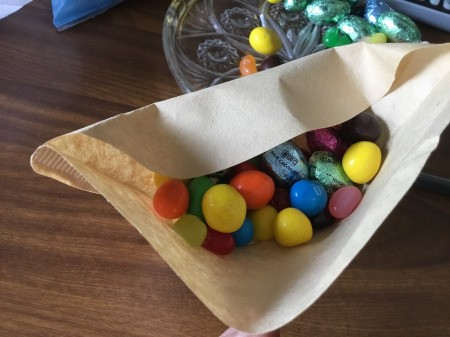 Coffee Filter Animal Candy Bags - add candy