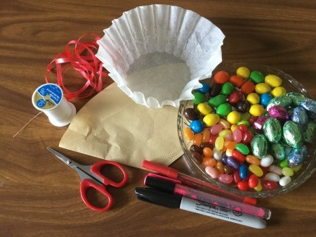 Coffee Filter Animal Candy Bags - supplies