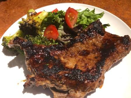 Apricot Marinated Steak on plate