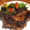 Apricot Marinated Steak on plate