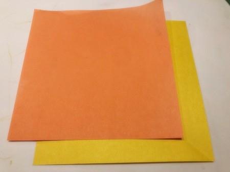 3D Kirigami Paper Stars - cut paper into squares