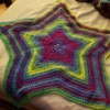 Crochet Business Name Ideas - colorful star baby blanket