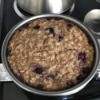 bowl removed from Instant Pot Blueberry Oatmeal