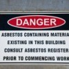 Informational Sign about asbestos danger