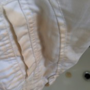 Removing Yellow Discoloration from White Pants - large yellowish stains on pants