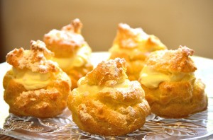 Cream Puffs on plate