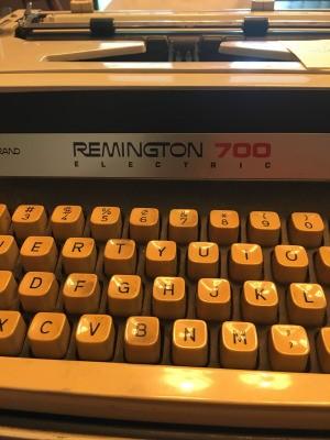 Repairing a Remington 700 Electric Typewriter - closeup of a typewriter