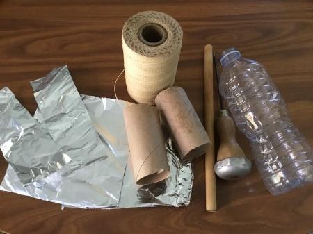 DIY Foil Garden Pest Deterrents - supplies