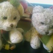 Identifying White Plush Christmas Bears