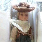 Value of Heritage Signature Collection Western Doll - doll in western attire in a box