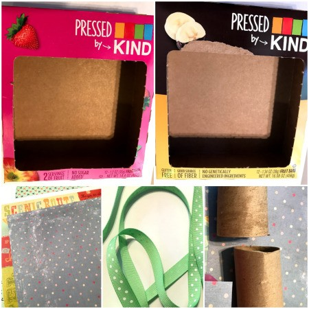 Cardboard Box Play Camera - supplies
