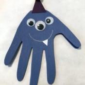 Handprint Monster Happy Birthday Card - cute card