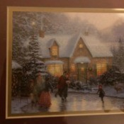 "Value of a 1996 Thomas Kinkade Print ""Skaters Pond"""