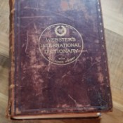 Value of a 1909 Webster's Dictionary - cover