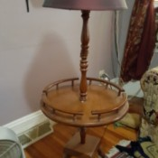Value of a Vintage Table Floor Lamp - colonial styling