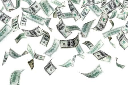 A shower of money.