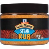 Recipe for McCormick's Grill Mates  Steak Rub - image of a bottle of the rub