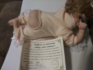 Value of an Ashley Belle Doll - baby doll with bare bottom and certificate