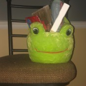 The Chem Caddy - Cleaning Supply Kit - plush frog Easter basket with painting supplies