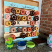 Donut Wall Wedding Cake