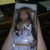 Value of a Cathay Collection Doll - Native American doll in a box
