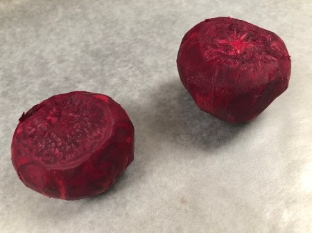 DIY Beetroot Powder - remove tops and peel beets