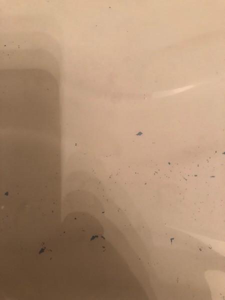 Removing Blue Streaks in Bathtub