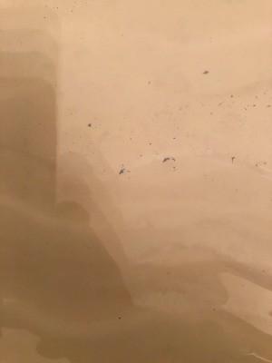 Removing Blue Streaks in Bathtub - several blue spots and streaks in bathtub
