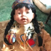 Value of a J. Misa Porcelain Doll - Native American doll