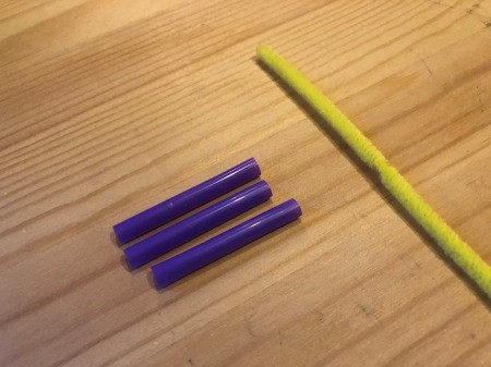 Making Geometric Bubble Wands - for a triangle use one pipe cleaner and three short lengths of a straw