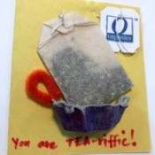 You Are TEA-riffic Card - finished card