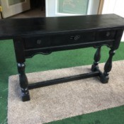 Value of a Mersman Table - painted long narrow table