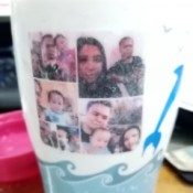 Photo Transfer Using White Glue - photo print transfer to cup