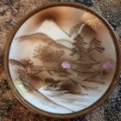 Identifying Japanese Bone China - pagoda motif saucer