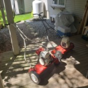 Restoring an Old Craftsman and a Moto Mower Reel Mowers - two gas powered reel mowers