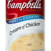 A can of Campbell's Cream of Chicken soup.