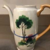Identifying a China Coffee Pot and Creamer - coffee pot