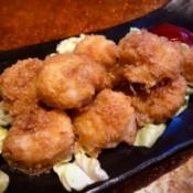 Crispy Garlic Shrimp on cabbage