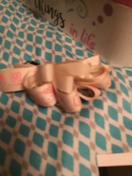 Cleaning Hair Bows in the Dishwasher - pink ribbon hair bow