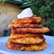Spaghetti Squash Fritters on plate