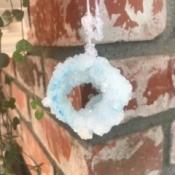 Growing Borax Crystals - hanging crystalline circular shape