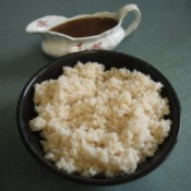 bowl of Brown Rice & gravy