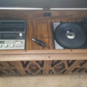 Value of a Capehart Stereo System - top open on console