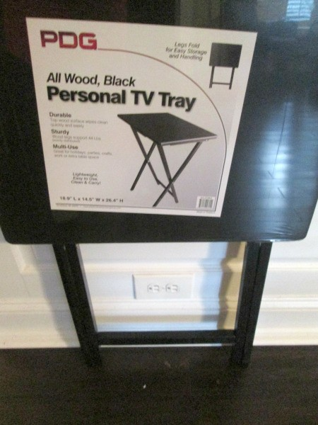 Folding TV Table as a Back To School/Small Space Saver - purchased TV tray