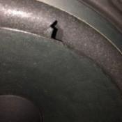 Repairing a Hole in a Stereo Speaker - tear in stereo speaker
