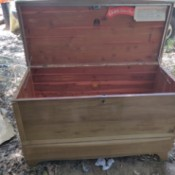 Value of a Lane Cedar Chest - open chest